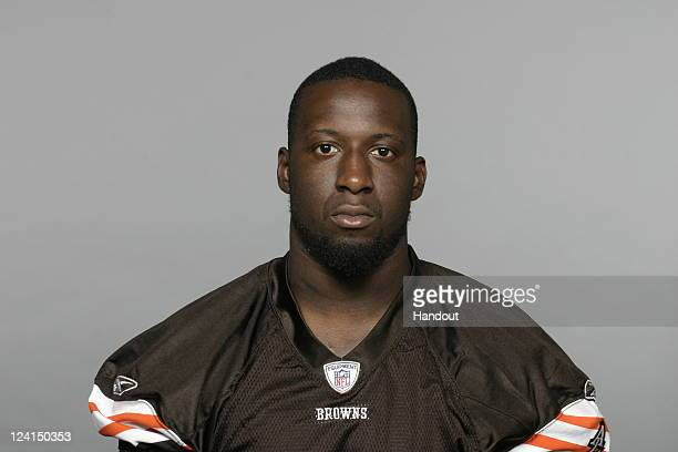 In this handout image provided by the NFL Titus Brown of the Cleveland Browns poses for his NFL headshot circa 2011 in Berea Ohio