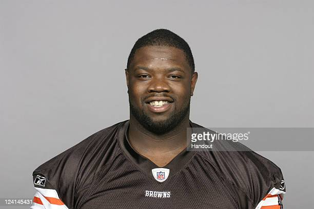 In this handout image provided by the NFL Travis Ivey of the Cleveland Browns poses for his NFL headshot circa 2011 in Berea Ohio