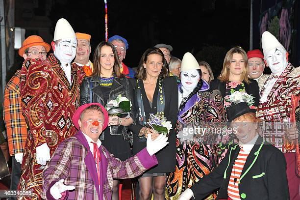 In this handout image provided by the Palais Princier de Monaco Pauline Ducruet and Princess Stephanie of Monaco attend the 38th International Circus...