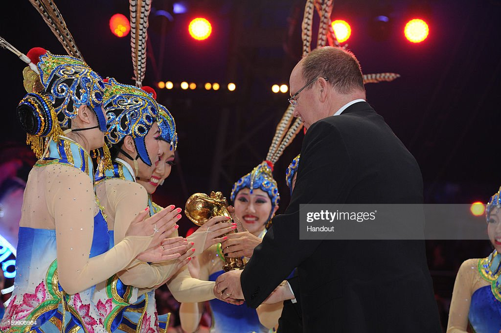 In this handout image provided by the Palais Princier de Monaco, Prince Albert II of Monaco attends the Monte-Carlo 37th International Circus Festival Closing Ceremony on January 22, 2013 in Monte-Carlo, Monaco.
