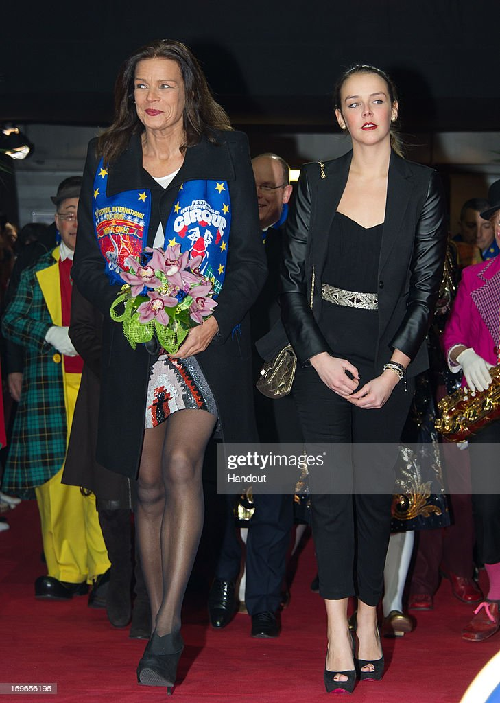 In this handout image provided by the Palais Princier de Monaco, Princess Stephanie of Monaco and her daughter <a gi-track='captionPersonalityLinkClicked' href=/galleries/search?phrase=Pauline+Ducruet&family=editorial&specificpeople=2084053 ng-click='$event.stopPropagation()'>Pauline Ducruet</a> attend the opening of the Monte-Carlo 37th International Circus Festival on January 17, 2013 in Monte-Carlo, Monaco.