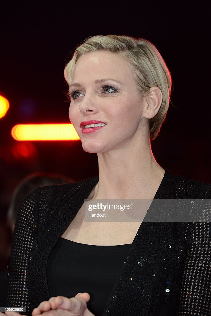 In this handout image provided by the Palais Princier de Monaco, Princess Charlene of Monaco attends the Monte-Carlo 37th International Circus Festival Closing Ceremony on January 22, 2013 in Monte-Carlo, Monaco.
