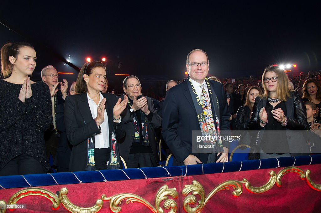 In this handout image provided by the Palais Princier de Monaco, <a gi-track='captionPersonalityLinkClicked' href=/galleries/search?phrase=Pauline+Ducruet&family=editorial&specificpeople=2084053 ng-click='$event.stopPropagation()'>Pauline Ducruet</a> (L), <a gi-track='captionPersonalityLinkClicked' href=/galleries/search?phrase=Princess+Stephanie+of+Monaco&family=editorial&specificpeople=171100 ng-click='$event.stopPropagation()'>Princess Stephanie of Monaco</a>, <a gi-track='captionPersonalityLinkClicked' href=/galleries/search?phrase=Prince+Albert+II+of+Monaco&family=editorial&specificpeople=201707 ng-click='$event.stopPropagation()'>Prince Albert II of Monaco</a> and Camille Gottlieb attend the 38th International Circus Festival on January 19, 2014 in Monte-Carlo, Monaco.