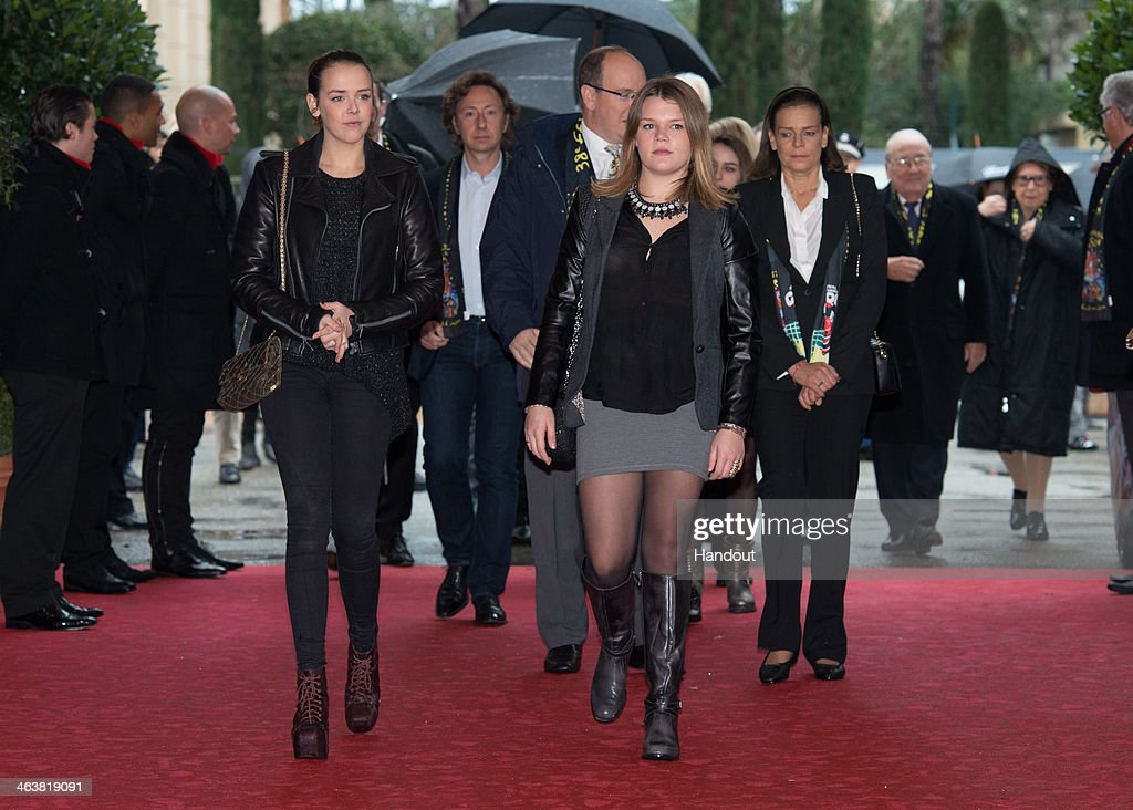 In this handout image provided by the Palais Princier de Monaco, <a gi-track='captionPersonalityLinkClicked' href=/galleries/search?phrase=Pauline+Ducruet&family=editorial&specificpeople=2084053 ng-click='$event.stopPropagation()'>Pauline Ducruet</a>, <a gi-track='captionPersonalityLinkClicked' href=/galleries/search?phrase=Prince+Albert+II+of+Monaco&family=editorial&specificpeople=201707 ng-click='$event.stopPropagation()'>Prince Albert II of Monaco</a>, Camille Gottlieb and <a gi-track='captionPersonalityLinkClicked' href=/galleries/search?phrase=Princess+Stephanie+of+Monaco&family=editorial&specificpeople=171100 ng-click='$event.stopPropagation()'>Princess Stephanie of Monaco</a> attend the 38th International Circus Festival on January 19, 2014 in Monte-Carlo, Monaco.