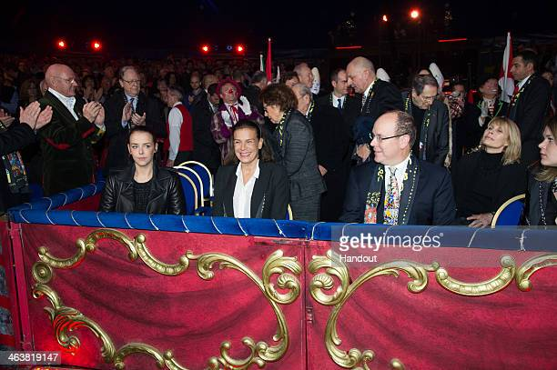 In this handout image provided by the Palais Princier de Monaco Pauline Ducruet Princess Stephanie of Monaco and Prince Albert II of Monaco attend...