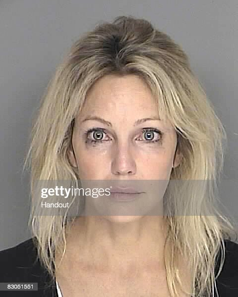 In this handout image provided by the Santa Barbara County Sheriff's Dept., actress <a gi-track='captionPersonalityLinkClicked' href=/galleries/search?phrase=Heather+Locklear&family=editorial&specificpeople=204224 ng-click='$event.stopPropagation()'>Heather Locklear</a> poses for a mugshot September 28, 2008 in Santa Barbara, California. Locklear was arrested on suspicion of driving under the influence of a controlled substance in the Santa Barbara area, authorities said Sunday.