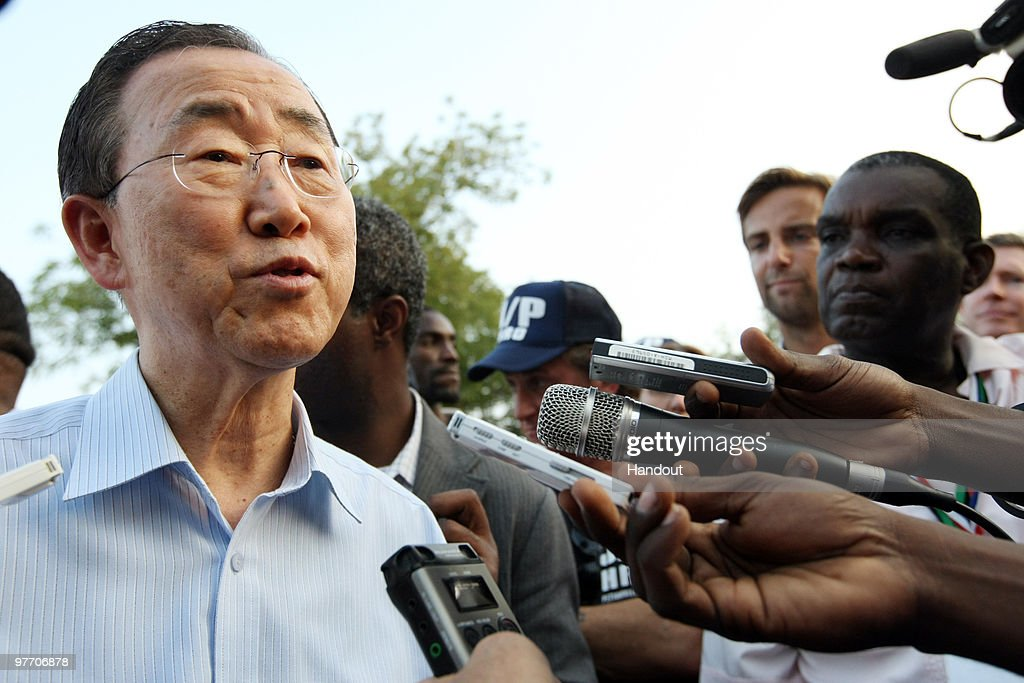 Image result for ban ki moon in haiti
