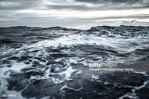 In this handout image provided by the Volvo Ocean Race onboard Abu Dhabi Ocean Racing Pacific Ocean wake during Leg 4 from Sanya to Auckland on...