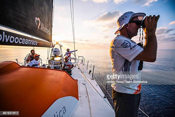 In this handout image provided by the Volvo Ocean Race onboard Team Alvimedica Day 12 A tough 48 hours in the Bay of Bengal of littletono wind and...