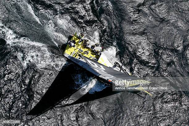 In this handout image provided by the Volvo Ocean Race Team Brunel during the Cape Town Practice Race of the Volvo Ocean Race 201415 on November 14...