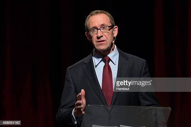 In this handout image provided by TV3's The Nation Labour Party leader candidate Andrew Little goes head to head at the TV3 The Nation Labour Party...