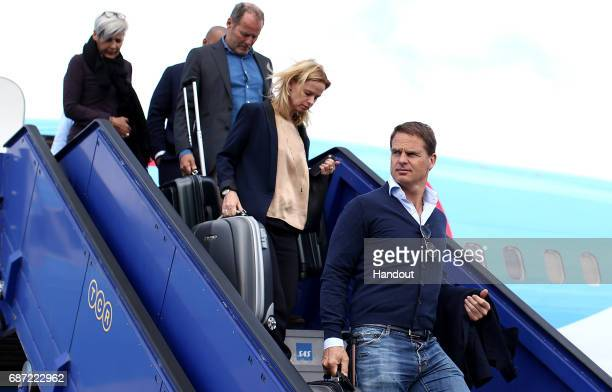 In this handout image provided by UEFA Frank de Boer arrives with the Ajax team ahead of the UEFA Europa League Final between Ajax and Manchester...