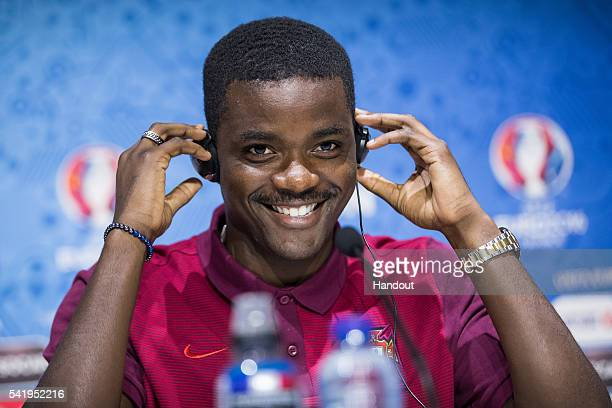 In this handout image provided by UEFA William Carvalho attends a press conference on June 21 2016 in DecinesCharpieu France