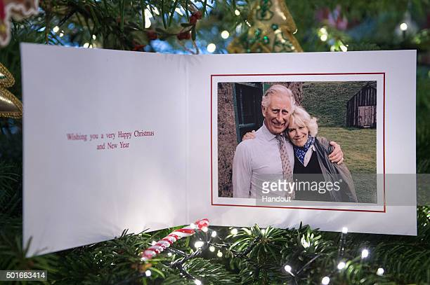 In this handout image released on December 17 2015 by Clarence House shows the personal Christmas card produced for Camilla Duchess of Cornwall and...
