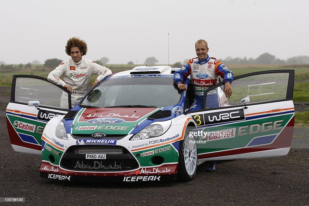 Moto GP Rider Marco Simoncelli Tests WRC Car