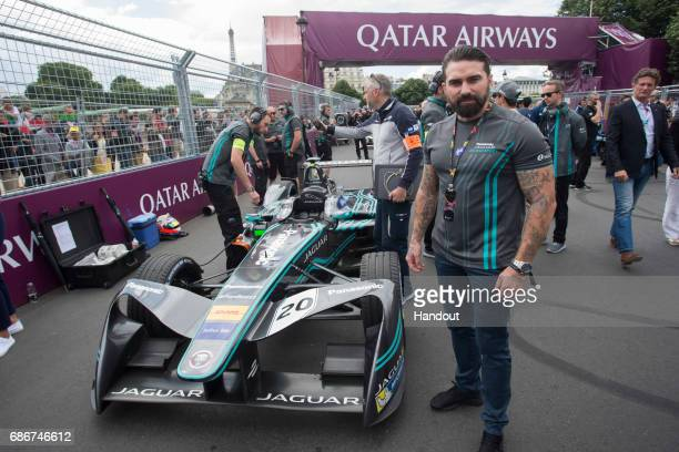 In this handout image supplied by Formula E Ant Middleton on the grid in the FIA Formula E Paris ePrix during the Paris ePrix sixth round of the...