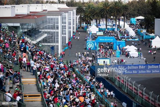In this handout image supplied by Formula E Fans during the FIA Formula E Championship Mexico City ePrix on April 1 2017 in Mexico City Mexico
