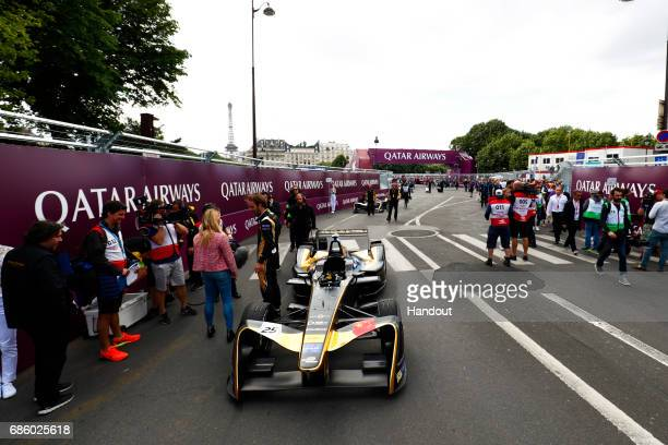 In this handout image supplied by Formula E JeanEric Vergne Techeetah SparkRenault Renault ZE 16 on the grid during the FIA Formula E Championship...