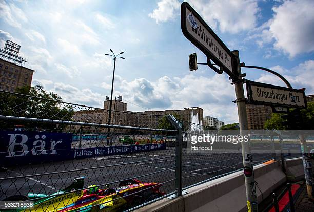 In this handout image supplied by Formula E Lucas Di Grassi ABT Audi Sport FE01 during the Berlin Formula E race on May 21 2016 in Berlin Germany