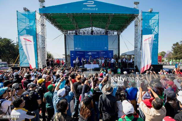 In this handout image supplied by Formula E Qualifying Lottery during the FIA Formula E Championship Mexico City ePrix on April 1 2017 in Mexico City...