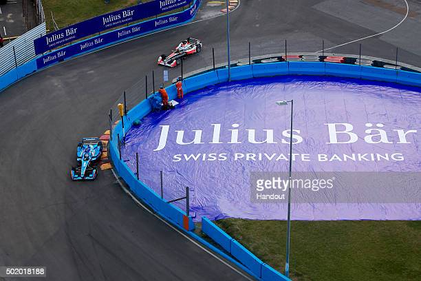 In this handout image supplied by Formula E Simona De Silvestro Andretti Spark SRT_01E during the Julius Baer Punta del Este Formula E race at Playa...
