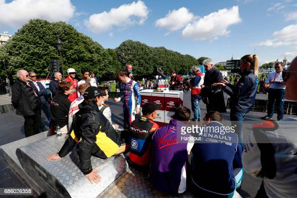 In this handout image supplied by Formula E The drivers at the qualifying lottery during the FIA Formula E Championship Paris ePrix on May 20 2017 in...