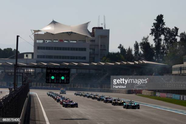 In this handout image supplied by Formula E The start during the FIA Formula E Championship Mexico City ePrix on April 1 2017 in Mexico City Mexico