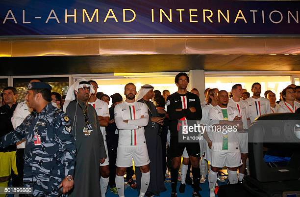 In this handout image supplied by Francisco Paraiso Gianluca Zambrotta of the World Stars XI team poses prior the Kuwait Champions Challenge match...