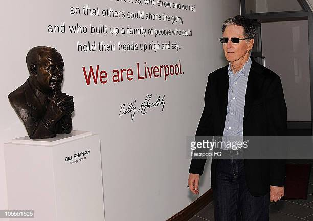 In this handout image supplied by Liverpool Football Club new owner John W Henry arrives at Melwood training ground on October 16 2010 in Liverpool...