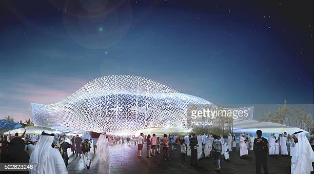 In this handout image supplied by Qatar 2022 is an artist's impression of the Al Rayyan Stadium a host venue for the 2022 FIFA World Cup Qatar which...