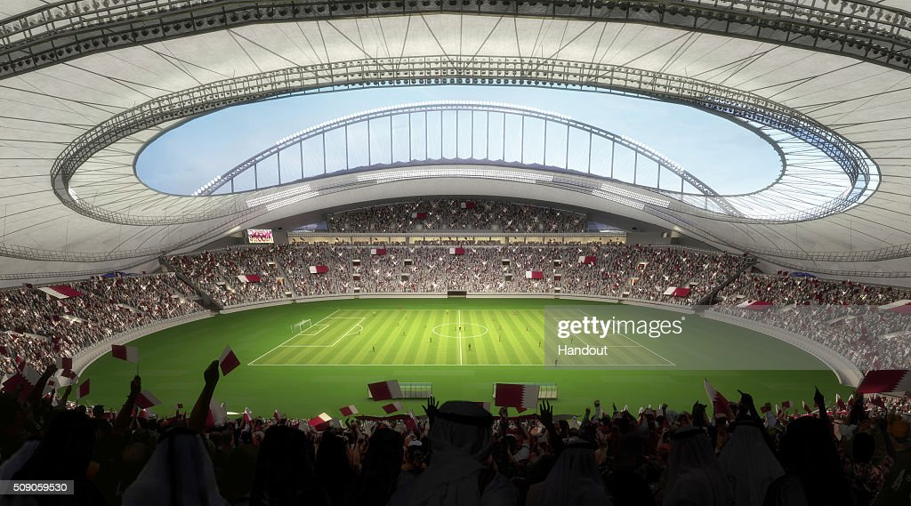 In this handout image supplied by Qatar 2022, this artists impression represents Khalifa International Stadium. Qatar will host the FIFA World Cup in 2022.