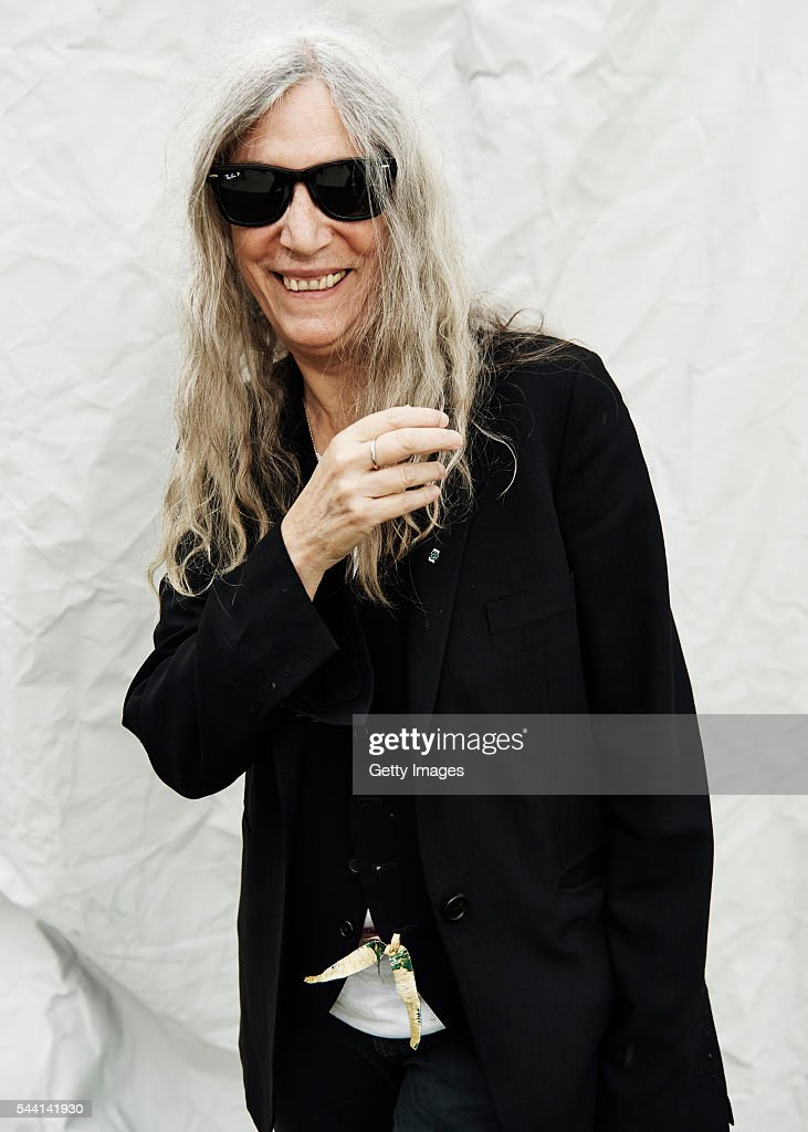 In this handout image supplied by Ray Ban, Patti Smith wearing Ray-Ban poses at the Ray-Ban Rooms at Barclaycard Presents British Summer Time Hyde Park on July 1, 2016 in London, United Kingdom.