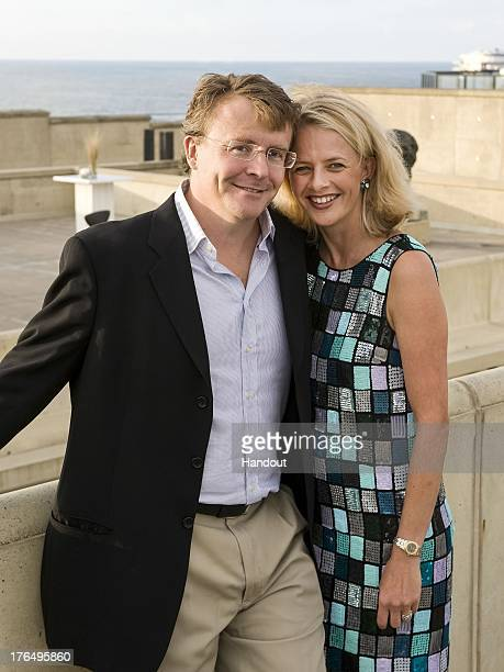 In this handout image supplied by Rijks Voorlichtings Dienst Prince Friso of The Netherlands and Princess Mabel of The Netherlands pose on August 29...