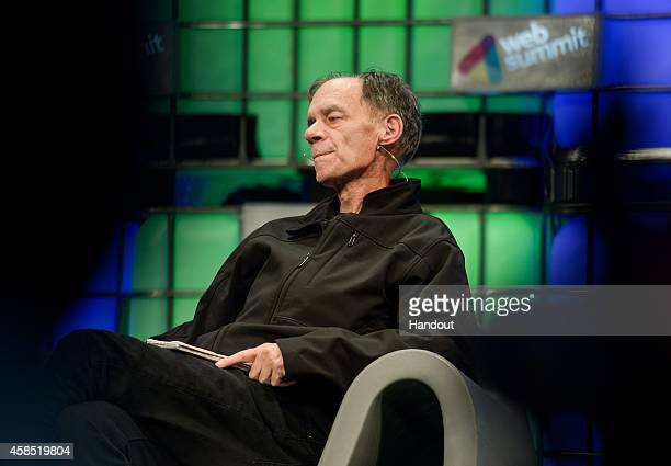 In this handout image supplied by Sportsfile David Carr Journalist and Author The New York Times speaks on stage during Day 3 of the 2014 Web Summit...