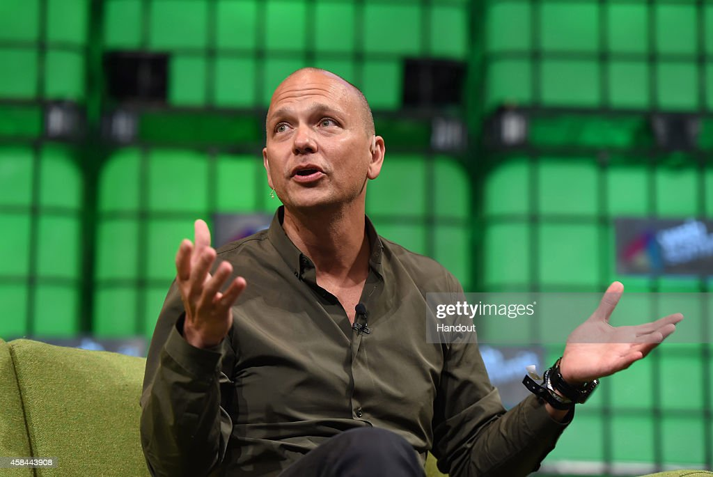 In this handout image supplied by Sportsfile, <a gi-track='captionPersonalityLinkClicked' href=/galleries/search?phrase=Tony+Fadell&family=editorial&specificpeople=8578729 ng-click='$event.stopPropagation()'>Tony Fadell</a>, Founder of Nest, speaks on the centre stage during Day 2 of the 2014 Web Summit at the RDS on November 5, 2014 in Dublin, Ireland.