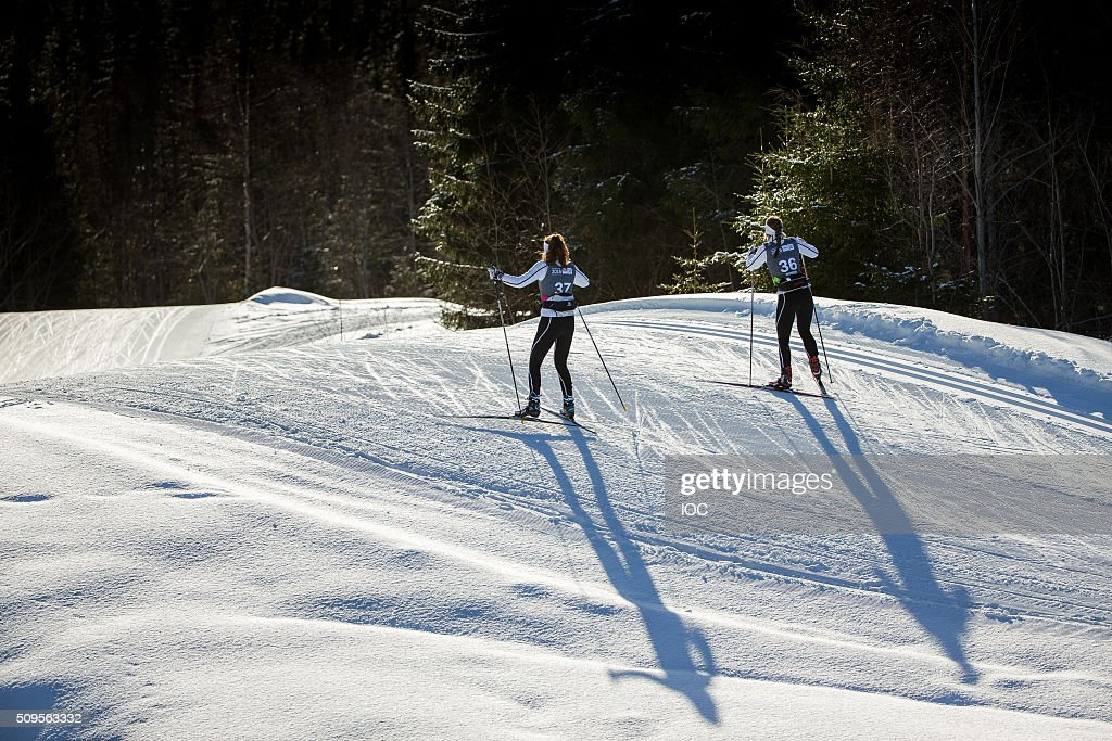 In this handout image supplied by the IOC, Athletes train at the Birkebeineren Cross Country Stadium prior to the Winter Youth Olympic Games on February 11, 2016 in Lillehammer, Norway.