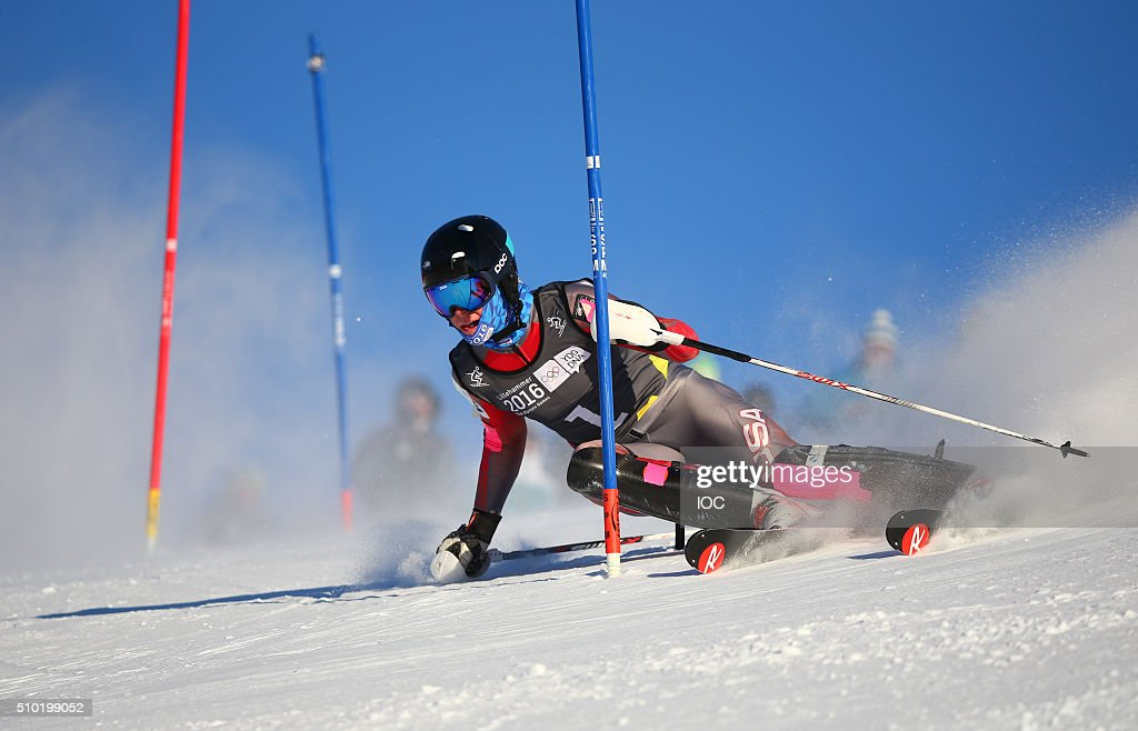 In this handout image supplied by the IOC, Gold medallist River Radamus USA competes during the Men's Alpine Combined Slalom Hafjell Olympic Slope during the Winter Youth Olympic Games, February 14, 2016 in Lillehammer, Norway.