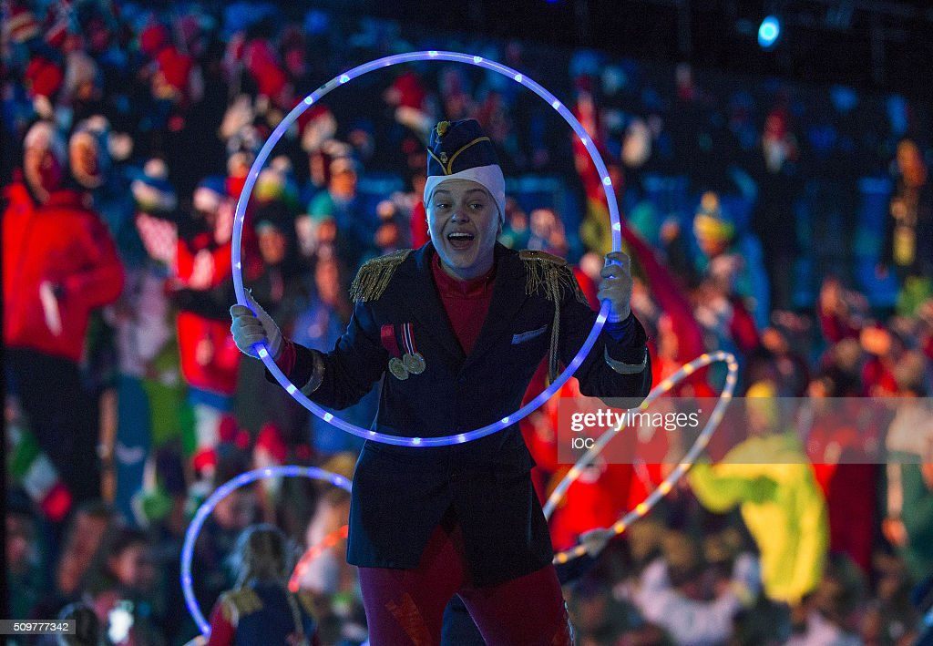 In this handout image supplied by the IOC, Performers participate in the Opening Ceremony of the Lillehammer 2016 Winter Youth Olympic Games on February 12, 2016 in Lillehammer, Norway.