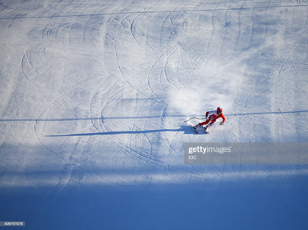 In this handout image supplied by the IOC, Szymon Bebenek of Poland in action during open training at the Hafjell Olympic Slope during the Winter Youth Olympic Games on February 12, 2016 in Lillehammer, Norway.