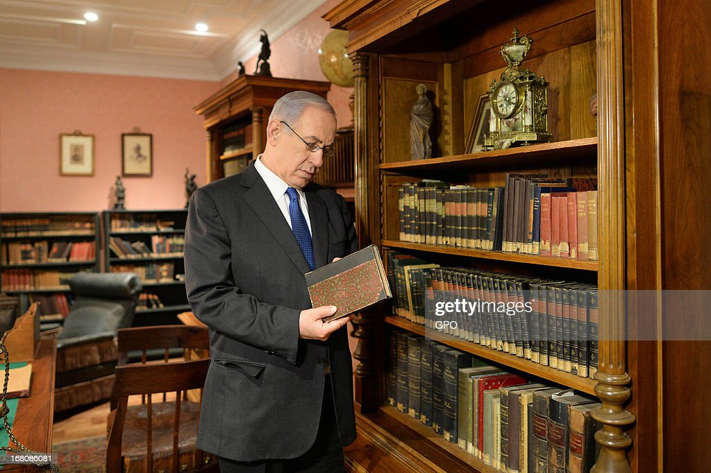 In this handout image supplied by the Israeli Government press office (GPO) Prime Minister Benjamin Netanyahu visits the Herzl Museum ahead of a cabinet meeting marking Jerusalem Day om May 5, 2013 in Jerusalem, Israel. Syria has accused Israel of launching rocket attacks on the Jamraya research centre in Damascus which, it is thought, is involved in the research of chemical weapons.