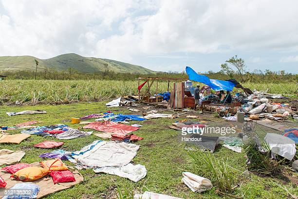 In this handout image supplied by the Mai Life Magazine a house damaged by Cyclone Winston is seen in Lautoka on February 22 2016 in Fiji Category 5...
