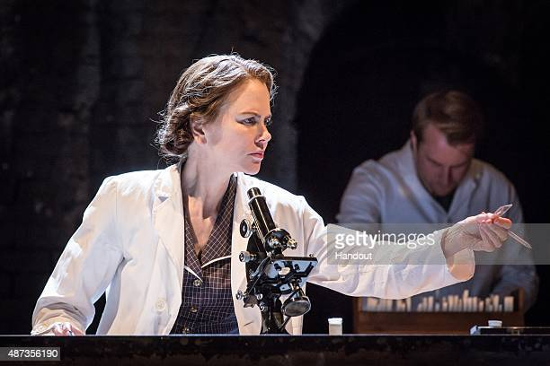 In this handout image supplied by The Michael Grandage Company actress Nicole Kidman rehearses for her role as Rosalind Franklin in Anna Ziegler's...