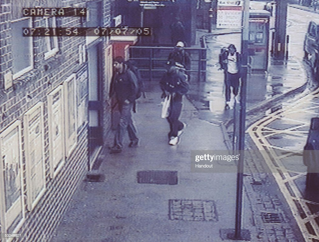 In this handout image taken fron CCTV footage and released by the Metropolitan Police on July 16 the four London bombers are pictured together...