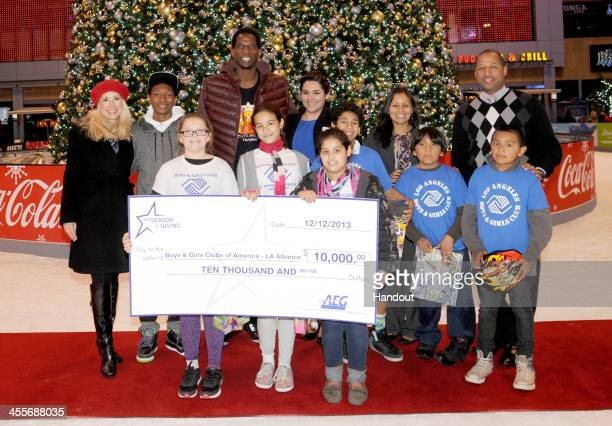 In this handout photo provided by Andrew D Bernstein Associates Photography Inc AC Green attends AEG's Annual Season of Giving event honoring The Los...