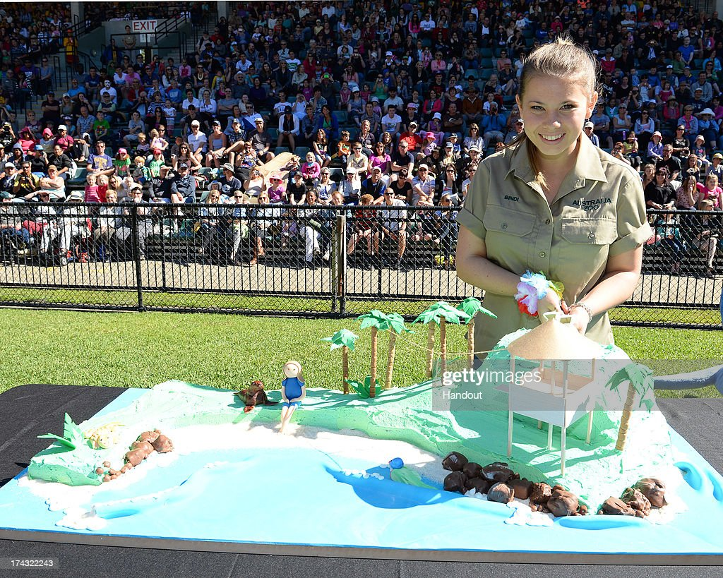 In this handout photo provided by Australia Zoo, <a gi-track='captionPersonalityLinkClicked' href=/galleries/search?phrase=Bindi+Irwin&family=editorial&specificpeople=3090449 ng-click='$event.stopPropagation()'>Bindi Irwin</a> celebrates her 15th birthday on July 24, 2013 in Beerwah, Australia.