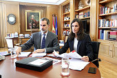 Spanish Royals Meet Social Entities On Video Conference