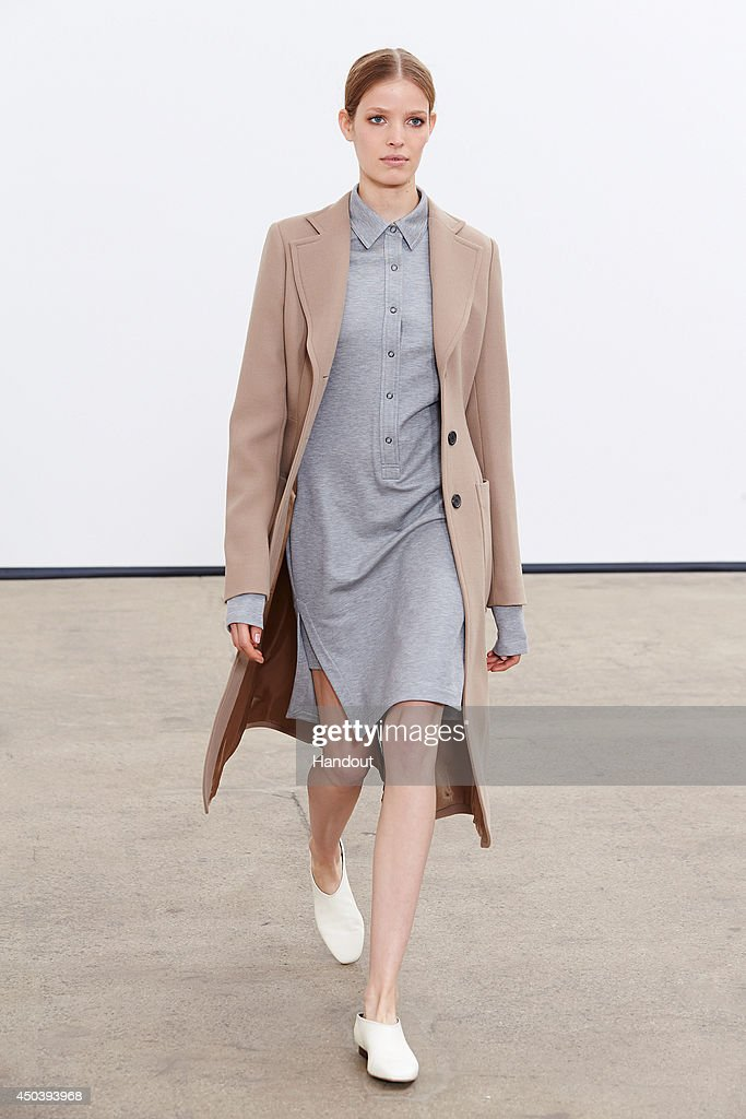 In this handout photo provided by Derek Lam, a model poses during the Derek Lam resort 2015 press preview on June 3, 2014 in New York City.