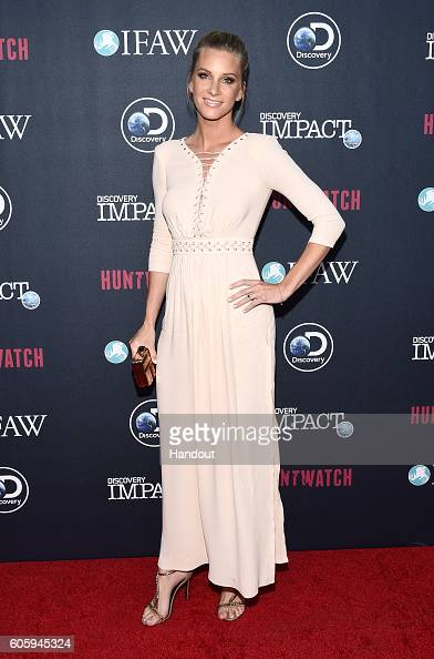 In this handout photo provided by Discovery Actress Heather Morris attends the Discovery Channel 'HUNTWATCH' screening at NeueHouse Los Angeles on...