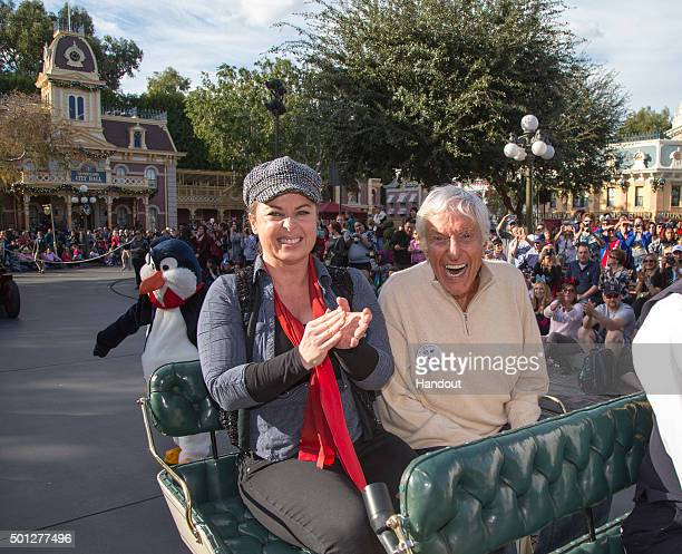 In this handout photo provided by Disney Parks actor and Disney legend Dick Van Dyke and wife Arlene Silver Van Dyke celebrate his 90th birthday at...