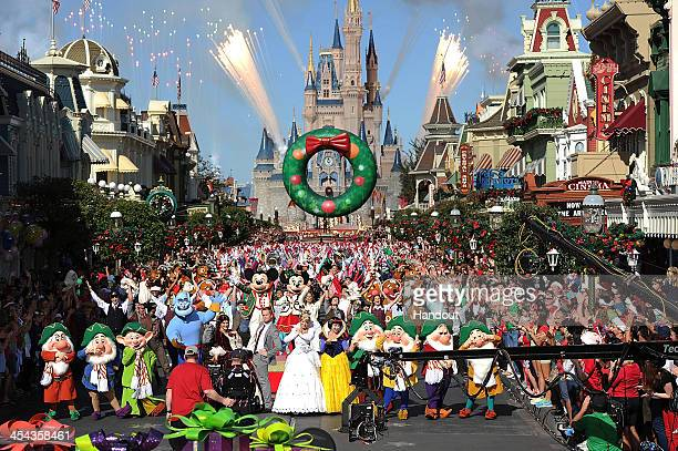 In this handout photo provided by Disney Parks Actor Neil Patrick Harris hosts and performs in the Disney Parks Christmas Day Parade television...